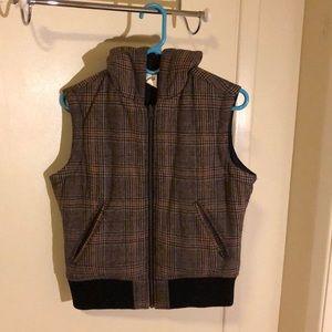 Prana lined and hooded plaid vest - Breathe